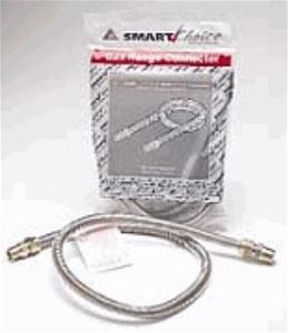 "Gas Line Flex Tube Hose Pipe Dryer 4' FT 3/8"" Stainless Steel Diameter Hook Up Connector with No-Neck Design to Eliminate Stress, Part # Dormont ROBB1248FB"
