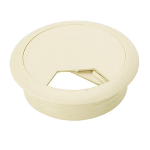 "1 7/8"" Furniture Hole Grommet Snap-In Desk Wire Cover Paintable to Match Home Office Flush Computer Desk / Entertainment Unit Component Equipment Cable Manager Flip Top, Beige, Part # Gizzmo 2697"