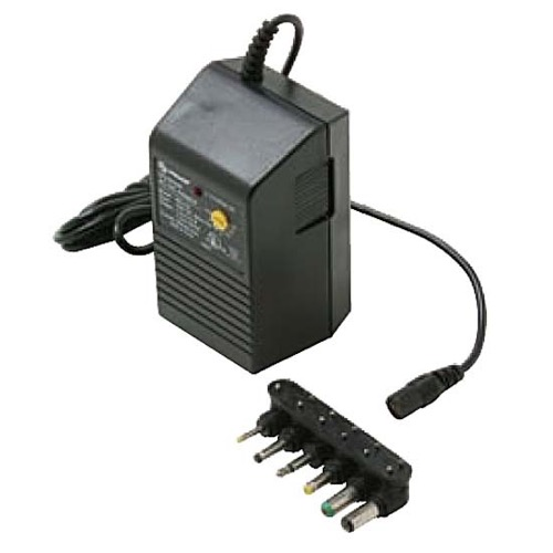 Steren Universal Power Supply 900-032 Adapter 300 mA AC/DC with 6 Detachable Plugs Converter Volt UL Transformer 110 VAC 50-60 Hz Adapter with Switchable Voltage Outputs 1.5, 3, 4.5, 6, 7.5, 9, 12 VDC, Part # 900032