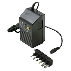 Eagle Universal Power Supply Adapter 300 mA AC/DC with 6 Detachable Plugs Converter Volt UL Transformer 110 VAC 50-60 Hz Adapter with Switchable Voltage Outputs 1.5, 3, 4.5, 6, 7.5, 9, 12 VDC