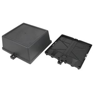 Eagle Plastic PVC Enclosure Box 9.5H 9.5W 4.75D with Cover Weather Electrical Multi Switch Weather Resistant Junction Satellite Cable Outdoor Heavy Duty Plastic Cable Service Component / Electrical Wire Connector / Satellite Dish Multi Switch Cover