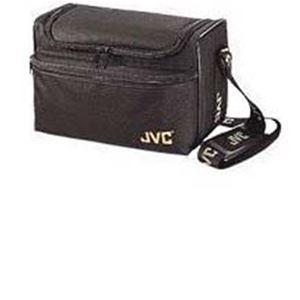 JVC Camcorder Bag Nylon Soft Sided Carrying Case Black JVC Camera Tote Bag with Velcro Front Pocket Flap, Heavy Duty Carry Strap and Zipper Closure for Security, Part # CB-V75U