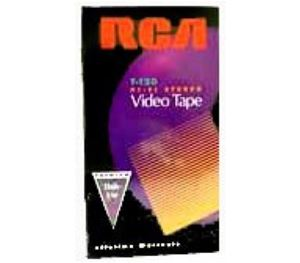 VHS Video Tape RCA T120 VCR Recording Premium Formatted Tapes Audio Video TV Signal Playback, Color Picture Display, Part # T-120