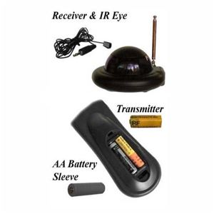 Next Generation ATH-418-KIT RF Remote Control Xtender RF Remote Extender with Transmitter and Receiver Remote Control Blaster 418 MHz Around the House for TV A/V Signal Converter Component Eye Emitter, Part # ATH418KIT