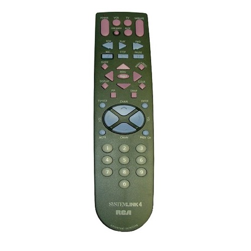 RCA RCU410 Universal Remote Control Replacement Dish Net TV Remote Control Systemlink 4 Device Satellite Receiver Digital Cable DIRECTV, Part # RCSAT1-A