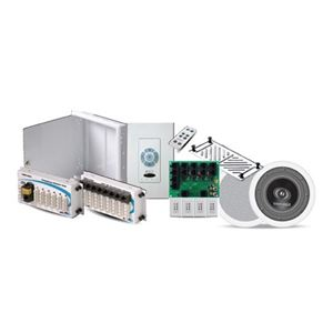 Forte by Steren Structured Panel with Data and Phone Distribution and 4 Room Multi-Source A-BUS Audio Package