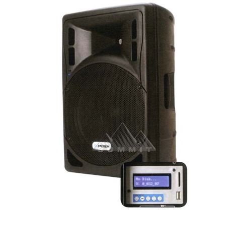 "Steren BAF-1595-MIC Entertainment System in Box with iPod MP3 Plug-In Built-In Amplifier 3500 Watt 15"" Inch Speaker System Portable Indoor Outdoor CD Player PA Karaoke DJ Applications RCA 1/4"" XLR Ports SD Card and USB Capable, Part # BAF1595-MIC"