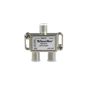 Channel Master 4001IFD Satellite Diplexer Separator Mixer VHF/UHF CM4001IFD 950 -2150 with DC Pass High Performance In-line IF Satellite Diplexer Digital Video Signal, Part # 4001-IFD