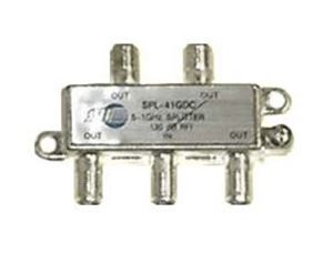 Jayco 4 Way Splitter 1 GHz Signal Video One Port DC Passing 0 - 1000 MHz UHF VHF Antenna with 75 Ohm Coax Cable Connections, 1 Input / 4 Output, Commercial Grade Video Signal Splitter, Part # JVI SPL-41GDC