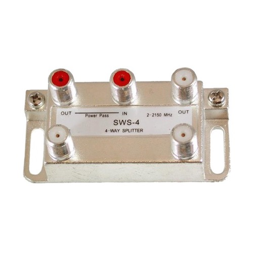 DIRECTV SWS 4-Way Splitter Wide Band 2 - 2150 Satellite Vertical High Isolation, Part # SWS-4