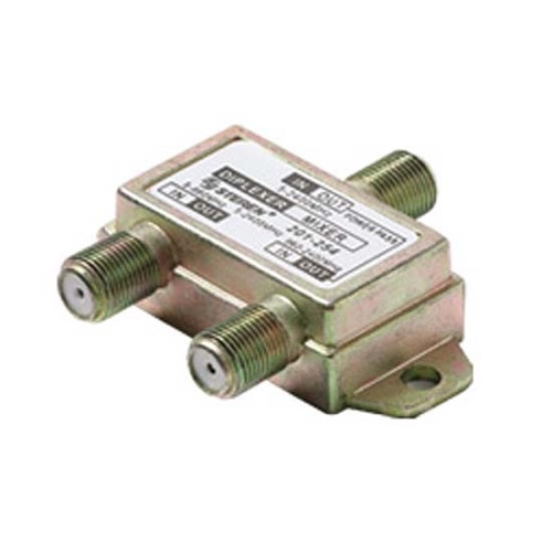 Eagle Satellite Diplexer Splitter Combiner 2GHz 1 Port DC Passive Combines Offair TV and Satellite