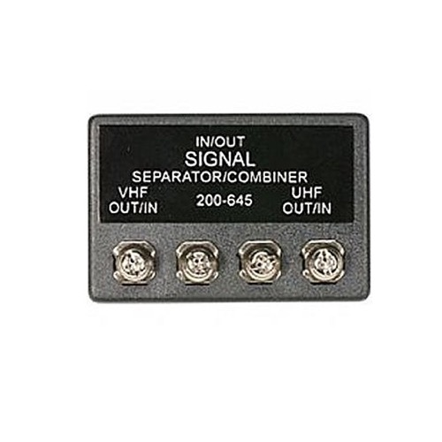 Steren 200-645 300/300 Ohm Signal Combiner with 75 Ohm Output Signal Band Separator Combiner Splitter UHF/VHF 75 - 300 Ohm Antenna Off-Air Aerial Lead Connection Splitter, Part # 200645