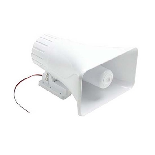 Eagle Speaker Horn 40 Watt Indoor Outdoor White 30 Watt RMS 5 x 8 Indoor Outdoor Loud Speaker Horn High Quality Heavy Duty White Plastic 40 Watt Peak Trumpet 30 Watt RMS 8 Ohm