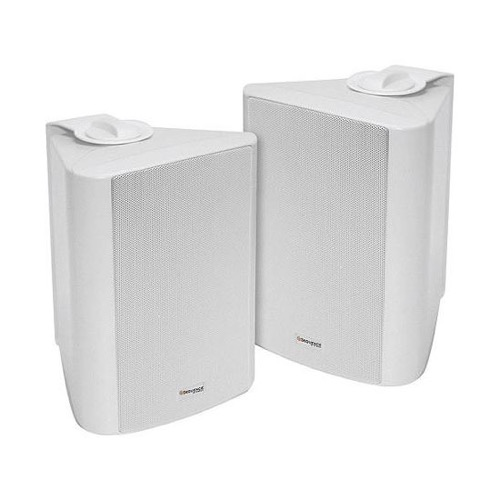 "Sequence 730-350WH 5 1/4"" Indoor Outdoor Weather Resistant Speakers One Pair White 100 Watt RMS Two Way By Steren"