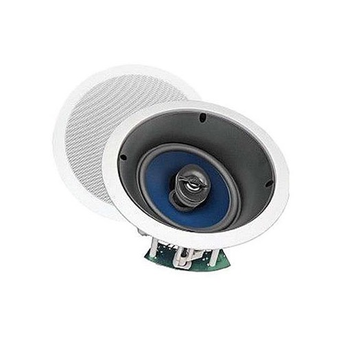 "Sequence 730-206 Premier Series 6 1/2"" Inch Home Theater Two Way Left / Center / Right  in Ceiling Speaker with Pivoting Tweeter Each, by Steren"