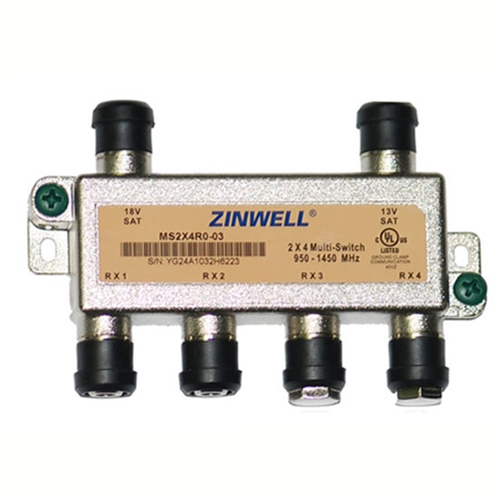 DirecTV MS2X4R0-03 Zinwell 2x4 Multiswitch with Weather Seals