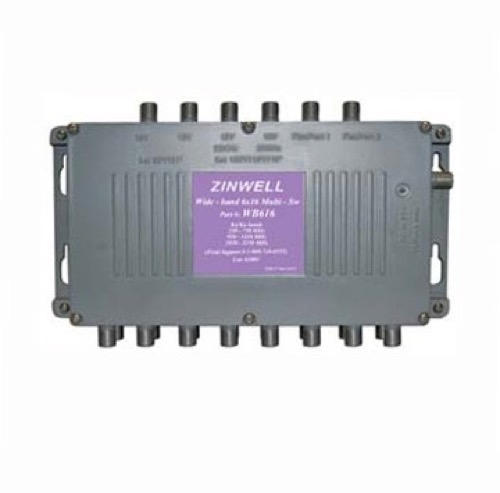 Terk MS-WB616 6x16 Satellite Dish Multi-Switch Splitter Receiver DirecTV Antenna, Zinwell S-2060RPGX Replacement Multiswitch, 24 Volt Power Supply, 950 - 2050 MHz, Part # MS-WB-616