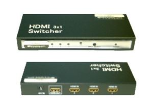 NEXT GEN 3x1 HDMI Switcher Digital HDTV 1080p IR Remote Plug-N-Play 1.3A Category Enhanced 3 Input / 1 Output Multi-Media Interface Connection Hub, 19 Pin Port, Socket, Part # Next Generation SWITCH31