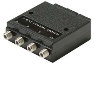 Steren 200-345 3-Way Push Button A/B/C Switch High Isolation 60 dB Shielded Housing 75 Ohm Inputs Outputs ABC Switch 3 Port Video Selector Switch A B C Switch Component Signal Coax Cable Triple Input, Part # 200345
