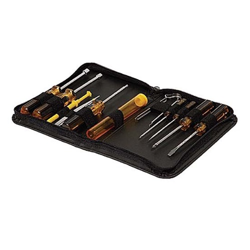 Steren 993-150 Computer Service Kit Tool Set 11 Pieces with Vinyl Case Screwdriver Nutdriver Professional Grade for Home Computer Repair Service, Part # 993150