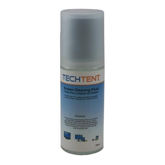 TechTent VC1351 Deluxe Screen Cleaning Kit 5oz Non-Aerosol Container 7x7 Inch Non-Abrasive Micro-Fiber Cloth for Tablets Phones TV Screens and Laptops