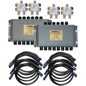 DIRECTV 16 Way Zinwell Multiswitch Kit for AT9 AU9-S SL3 SL5 KaKu Band Satellite Dish Replaces MS6X16WB-Z Wide Band 6x16 Multi-Switch MPEG-4 Capable Satellite Dish Antenna Multiswitch, Part # MS-6X16-WB-Z