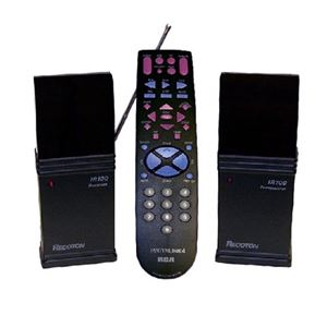 Wireless Remote Control Extender and Universal 4 Device Remote Control RCA Systemlink 4 Remote TV System Control, Remote Range RF Frequency 418 MHz, Part # WIRRCA